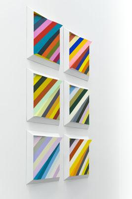 PARALAXON - 2015 - Einzelreliefs je 60 x 60 x 10 cm