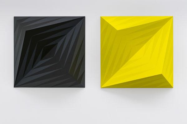 QUASAR - 2018 - Einzelreliefs je 72 x 72 x 20 cm