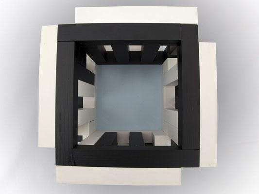 ATRIUM Modell (von oben) - 2010 - 25 x 25 cm