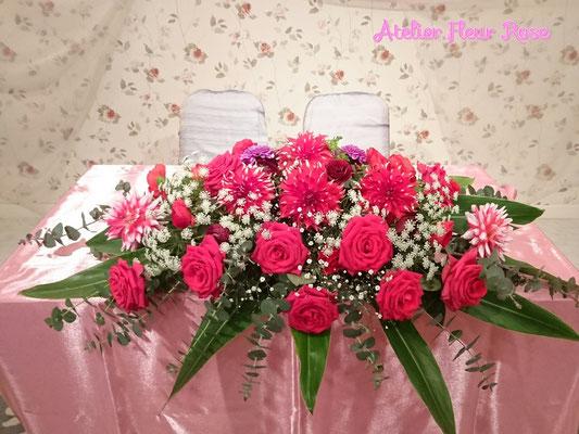 W-25 高砂テーブル装花