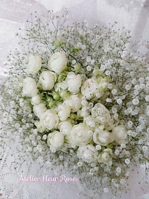 PB17  白薔薇&カスミソウ