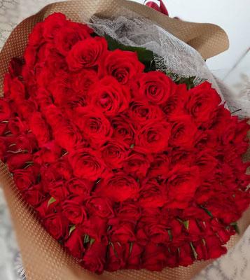 PB29 赤薔薇108本(永遠(とわ))