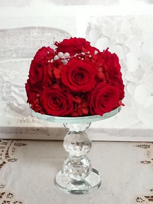 PB23 プリザーブドフラワー 赤薔薇12本ダズンローズ