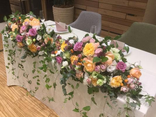 W-21 高砂テーブル装花