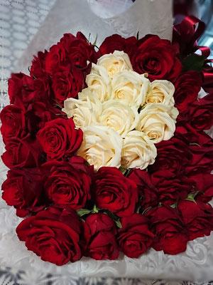 PB20  赤薔薇&白バラ