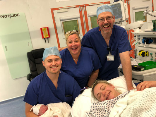 Our Wonderful Team, with our Anaesthetic Consultant Dr Mark Esler