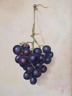 Naar een aquarel van Jean Bernard 30x40 cm
