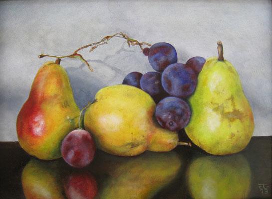 30x40 cm Fruit. In bruikleen.