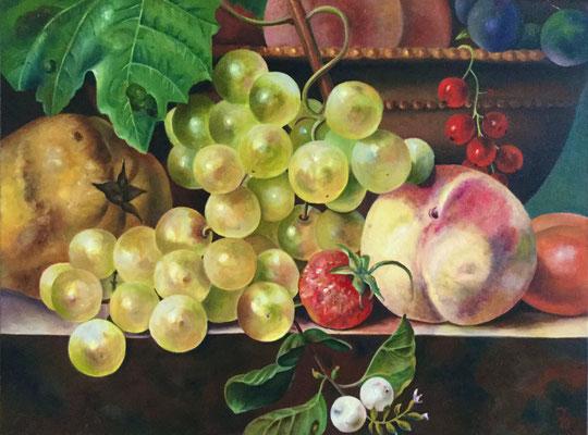 Detail uit een stilleven van Anthony Oberman 60x80 cm
