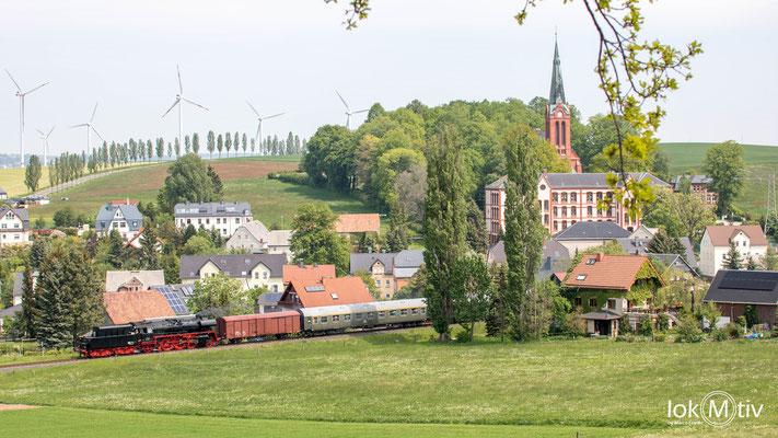 """35 1097-1 in Hohendorf """"tv"""" in Richtung St. Egidien"""
