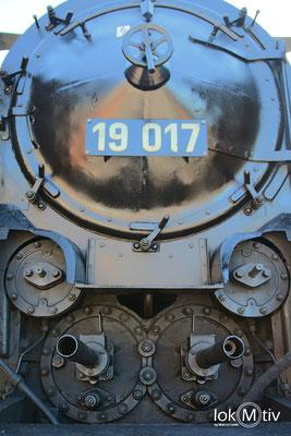 19 017 (ehemals Sächs. XX HV Nr. 4523) im Eisenbahnmuseum Dresden 04/2018