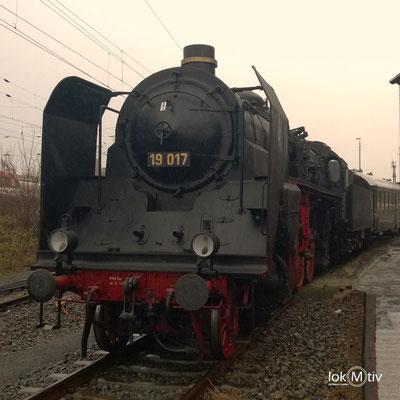 19 017 (ehemals Sächs. XX HV Nr. 4523) im Eisenbahnmuseum Dresden 04/2017