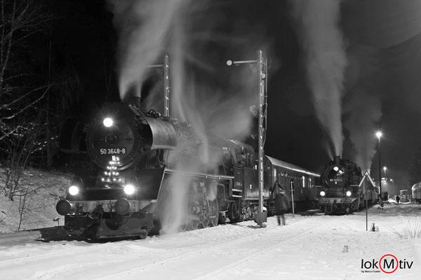 50 3648-8 und 86 1333-3 in Schlettau (12/2018)