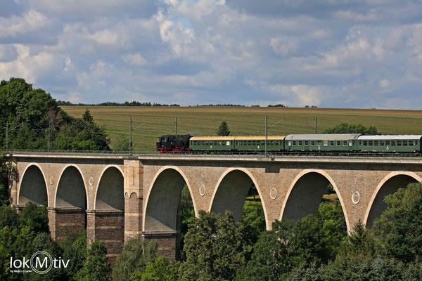 Auf dem Viadukt in Wegefarth (08/2019)