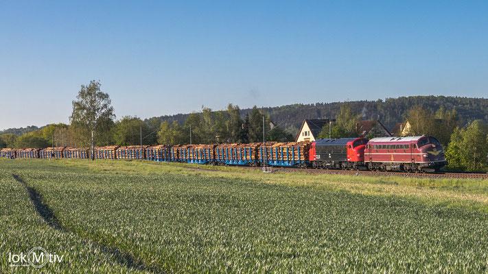 Nächste Leistung nach Plattling In Niederlungwitz rollen MY 1138 und 1142 nach Glauchau (05/2020)