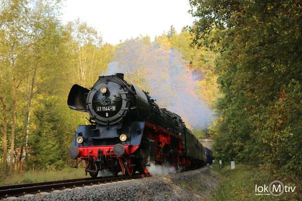 41 1144-9 auf der Elstertalbahn 10/2018