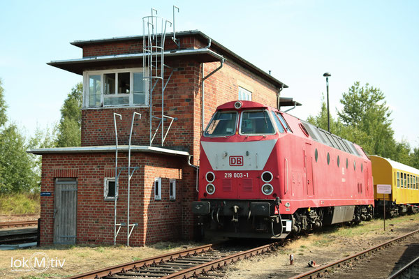 219 003-1 in Chemnitz zum Heizhausfest (08/2018)