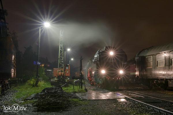 01 0509-8 mit Doppeltender am Schlackeplatz in LLP (10/2019)