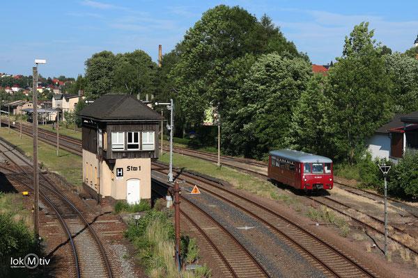 VT2.09.271 verlässt Nossen auf die Zellwaldbahn nach Großvoigtsberg (06/2017)
