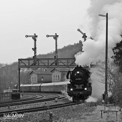 03 2155-4 unter der Signalbrücke Rosswein 03/2018