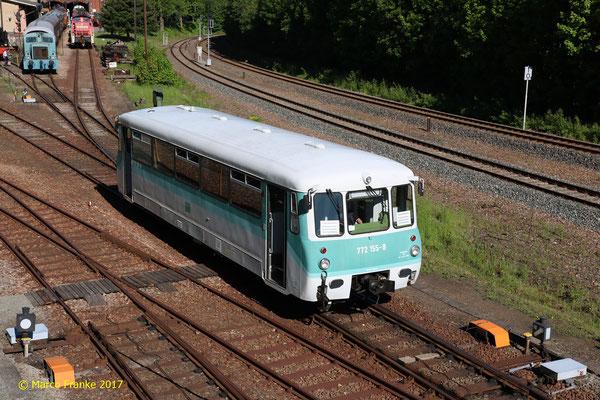 772 155-8 anlässlich der Schwarzenberger Eisenbahntage in Schwarzenberg (05/2018)