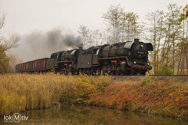 44 2546-8 und 44 1486-8 bei Neuhof in Richtung Meiningen