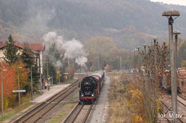 41 1144-9 wartet auf Ausfahrt in Walldorf