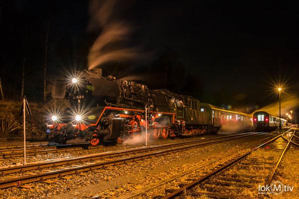 50 3648-8 zu Gast in Schlettau auf der Rückfahrt nach Chemnitz (12/2019)