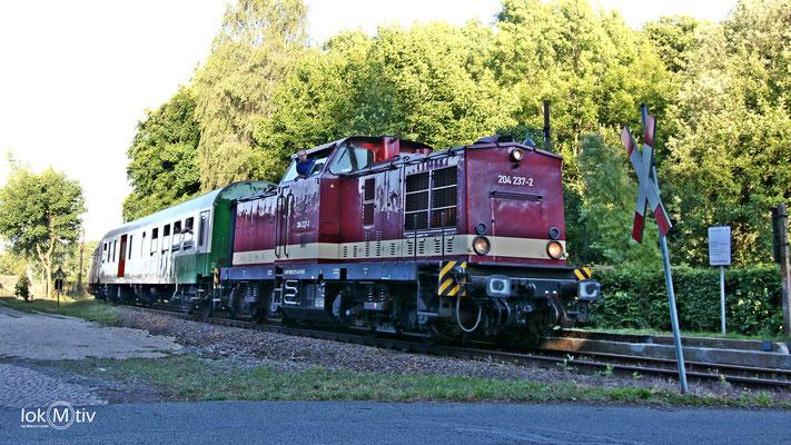 204 237-2 in Zug zum Bergstadtfest Freiberg (06/2017)