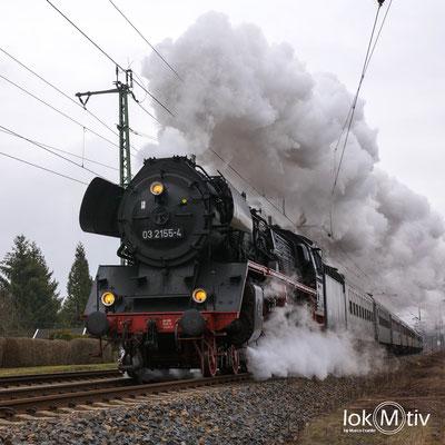 03 2155-4 läuft in Flöha auf Chemnitz zu (04/2019)