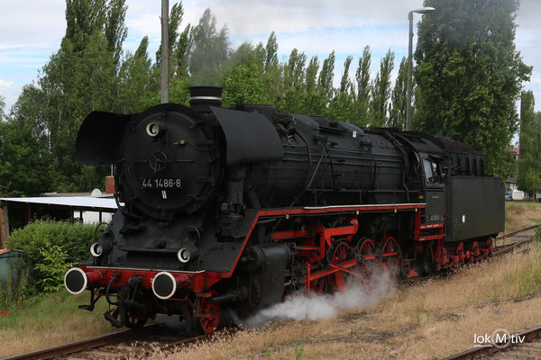 44 1486-8 im Eisenbahnmuseum Staßfurt 06/2017