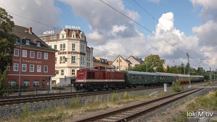 Auf dem Heimweg in der Sachsnringstadt Hohenstein-Ernstthal