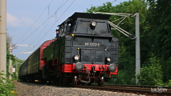86 1333 durcheilt Hohenstein-Ernstthal in Richtung Chemnitz