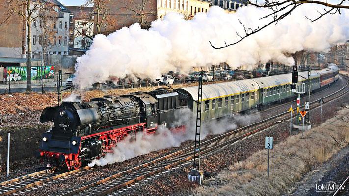 35 1097-1 in Chemnitz auf der Strecke Dresden - Werdau 03/2018