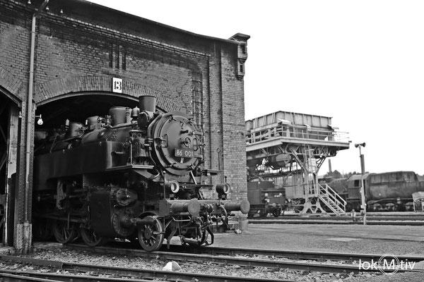 86 001 im Sächsischen Eisenbahnmuseum Chemnitz