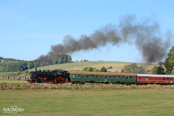 86 1333 auf der Erzgebirgischen Aussichtsbahn (EAB)