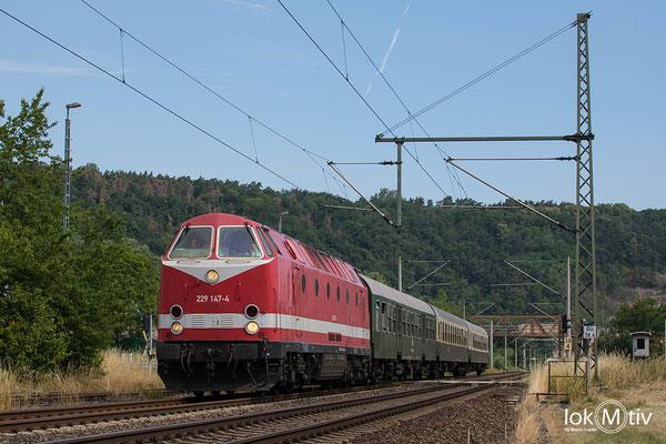 229 147-4 auf dem Weg nach Lobenstein (07/2019)
