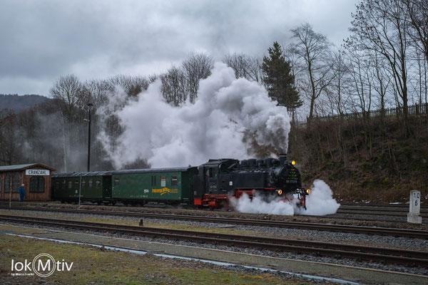 99 1772-5 bei der Ausfahrt in Cranzahl (12/2018)