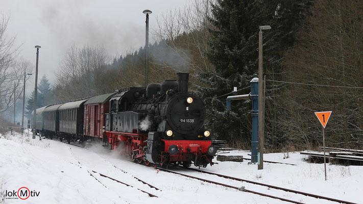 94.1538 Einfahrt in den Bahnhof Stützengrün 12/2017