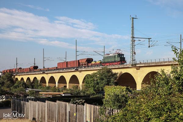 244 044 auf dem Wahrener Viadukt in Leipzig (09/2020)