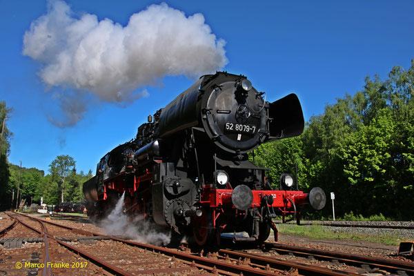 52 8079-7 zu den Schwarzenberger Eisenbahntagen (05/2017)