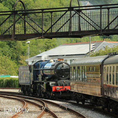 King Edward II 6023 Umspannen in Kingswear (08/2018)