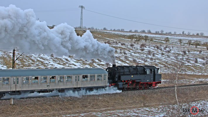 95 1027-1 auf der Rübelandbahn (02/2019)