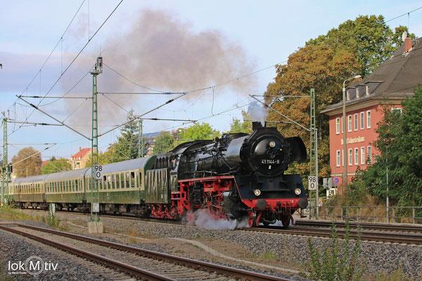 41 1144-9 vor dem Hotel Schweizer Haus in Hohenstein-Ernstthal 09/2018
