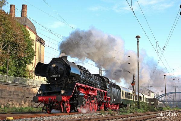 41 1144-9 vor der alten Malzfabrik in Gößnitz 09/2018