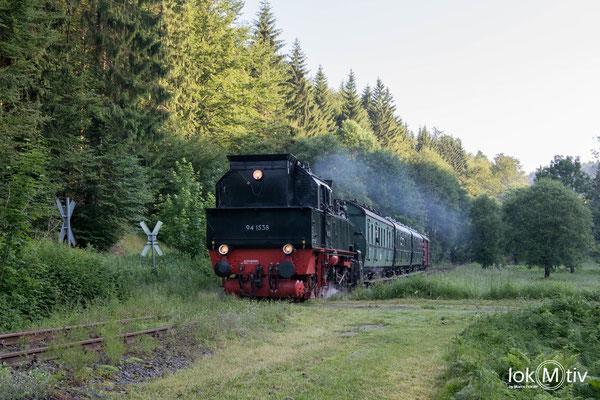 Abstieg bei Neuhaus nach Schleusingen und weiter nach Themar