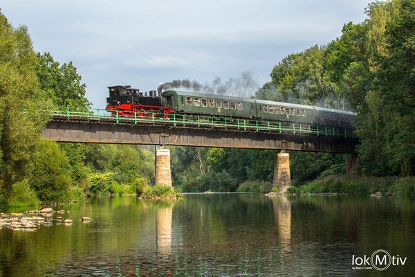 91 134 auf der Zschopaubrücke in Braunsdorf (08/2019)