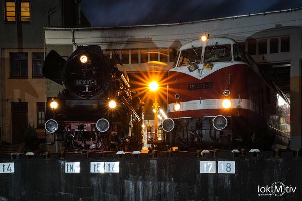 35 1097 und 118 370 zur Nachtfotoparade (09/2020)