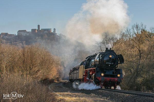 41 1144-9 am Wartburgblick auf dem Weg nach Meiningen (02/2019)