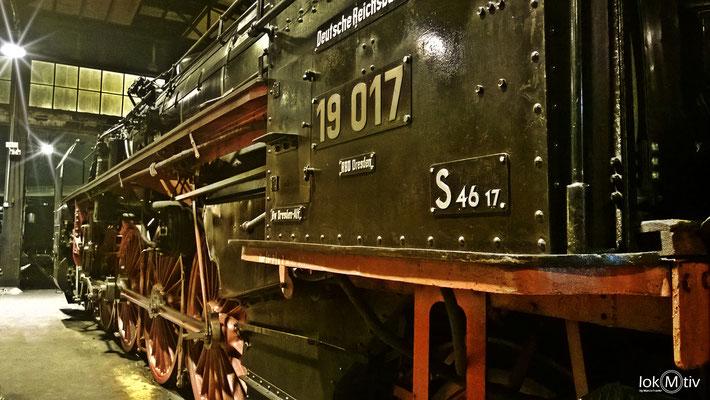 19 017 (ehemals Sächs. XX HV Nr. 4523) im Eisenbahnmuseum Dresden 05/2017